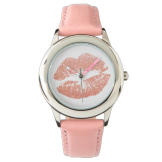 Pink Lips Kiss Children's Watch