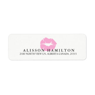 Pink Lips | Personalized Return Address