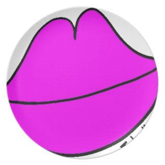 Pink Lips Plate