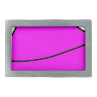 Pink Lips Rectangular Belt Buckle