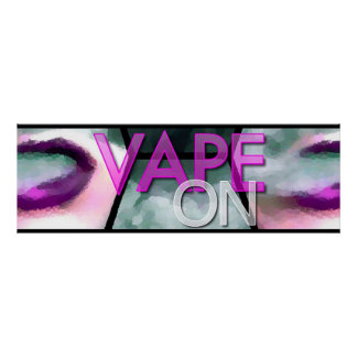 Pink Lips Smoke Vapeon Poster