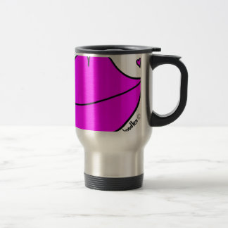 Pink Lips Travel Mug