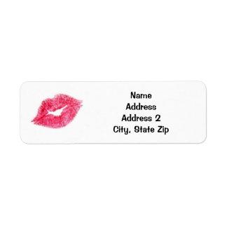 Pink Lipstick Kiss