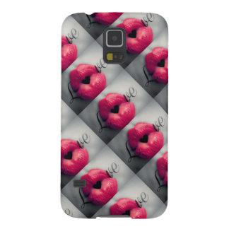 Pink Lipstick Love Galaxy S5 Case