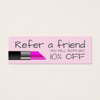Pink lipstick Referral Card