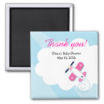 Pink Little Aviator Baby Shower Favour Magnet