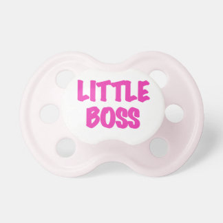 Pink Little Boss Pacifier