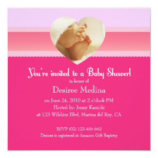 Pink Little Feet Baby Shower for Baby Girl Card