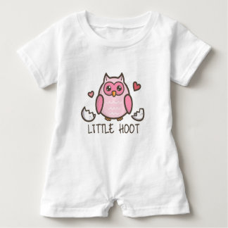 Pink LIttle Hoot Baby Romper