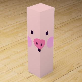 Pink Little Piggy Wine Gift Box