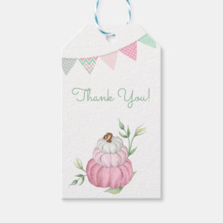 Pink Little Pumpkin Patch Thank You Gift Tag