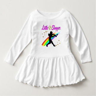 PINK LITTLE SLUGGER SOFTBALL GIRL DESIGN DRESS