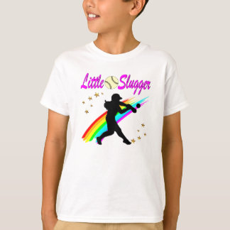 PINK LITTLE SLUGGER SOFTBALL GIRL DESIGN T-Shirt