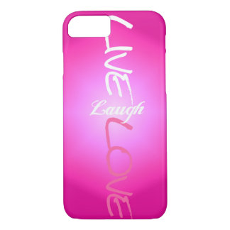 Pink Live Laugh Love iPhone 7 case