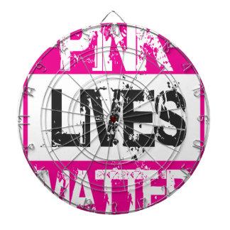 PINK LIVES DARTBOARD