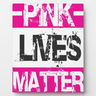 PINK LIVES PLAQUE