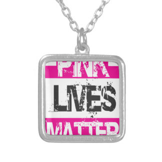 PINK LIVES SILVER PLATED NECKLACE