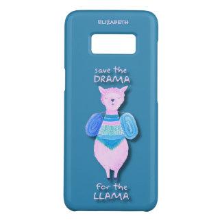 Pink Llama In Pastel Colors No Drama Llama Cool Case-Mate Samsung Galaxy S8 Case