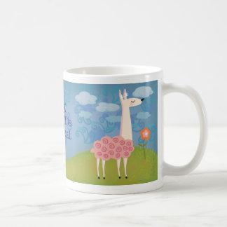Pink Llama on Hilltop Mug