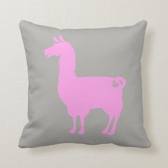 Pink Llama Pillow