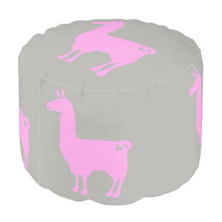 Pink Llama Pouf