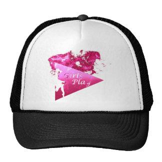 Pink Logo with Smoke - Girls Tee Trucker Hat