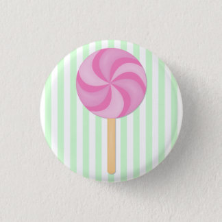 Pink Lollipop Button