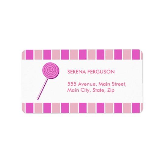 Pink Lollypop Label