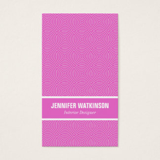 Pink Lollypop Pattern Business Card