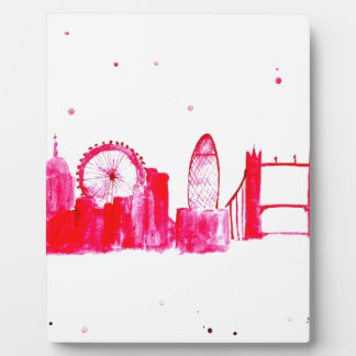 Pink London Plaque