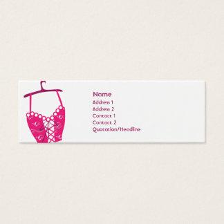 Pink Longlinebra - Skinny Mini Business Card