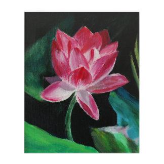 Pink Lotus  Acrylic Wall Art