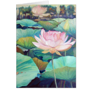 Pink Lotus Blossom Greeting Card