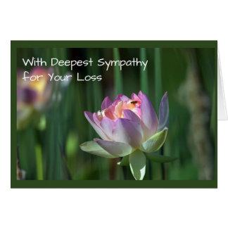 Pink Lotus Blossom Sympathy Card