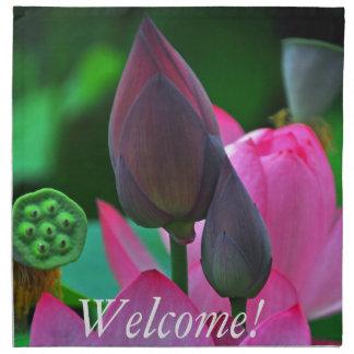 Pink Lotus Blossoms Napkin