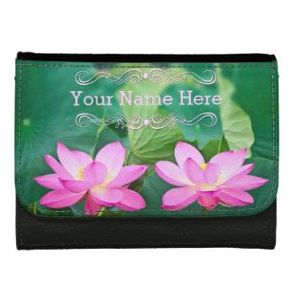 Pink Lotus Couple Inspiration Pair Pond Green Leaf Women's Wallet