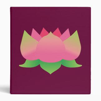 Pink Lotus Flower 3 Ring Binder