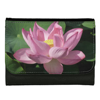 Pink Lotus Flower IV Wallet For Women