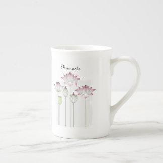 Pink Lotus Flower Namaste Elegant Chic Custom Tea Cup