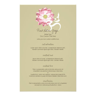 Pink Lotus Flower Om Namaste Yoga Zen Custom Flyer