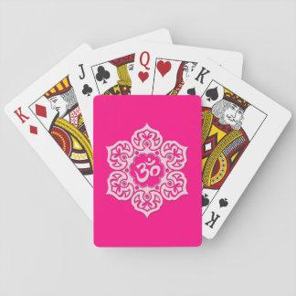 Pink Lotus Flower Om Card Deck