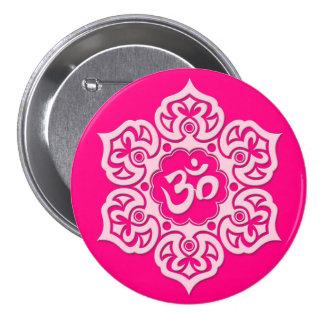 Pink Lotus Flower Om Pin