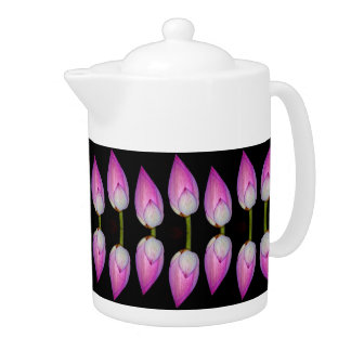 pink lotus flower teapot