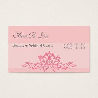 Pink Lotus Flower Yoga Business Card