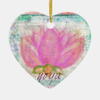 Pink Lotus Flower yoga Ceramic Ornament