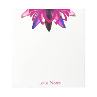 Pink Lotus Flower Yoga Instructor Holistic Classic Notepad