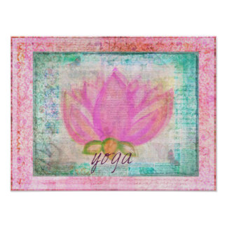 Pink Lotus Flower yoga  picture Poster