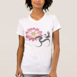 Pink Lotus Flower Yoga White Om Symbol Zen T-Shirt