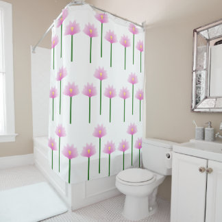 Pink Lotus flowers in a repeating pattern