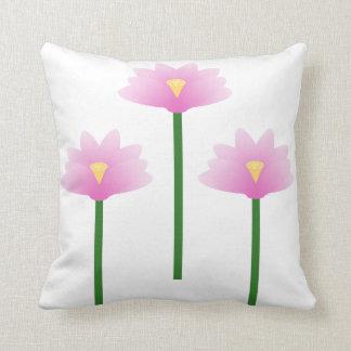 Pink Lotus flowers Throw Pillow
